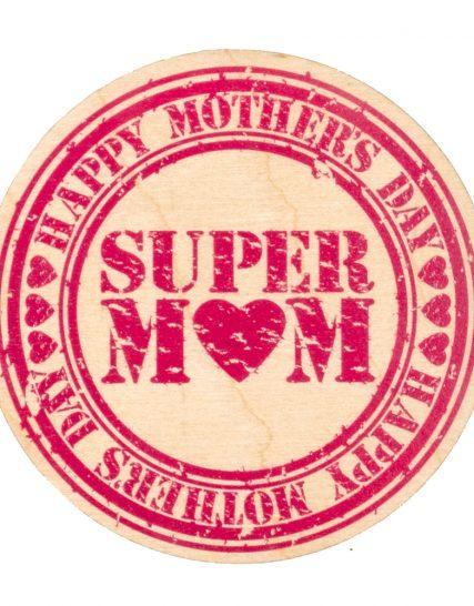 Super Mom wooden