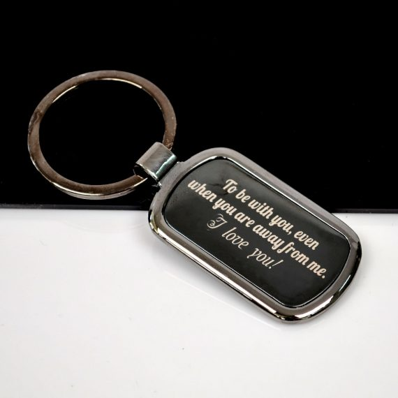 Rectangular shaped Keychain To be With you