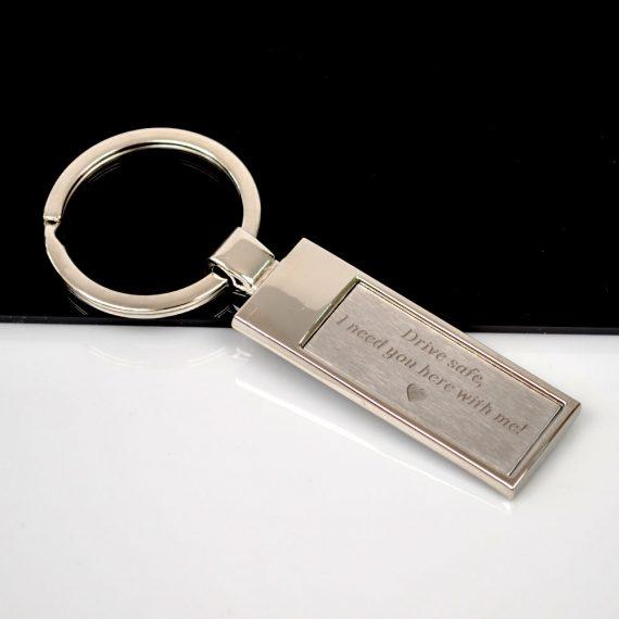 Rectangular shaped Keychain Drive Safe