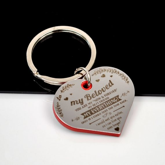 Heart shaped Keychain To my beloved