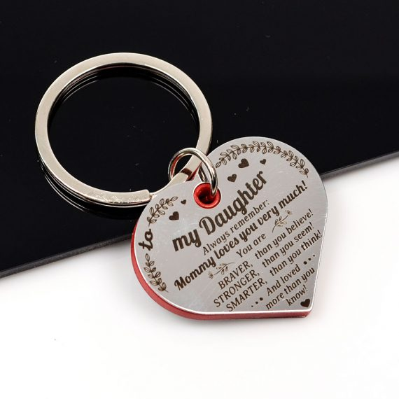 Heart shaped Keychain To my daughter