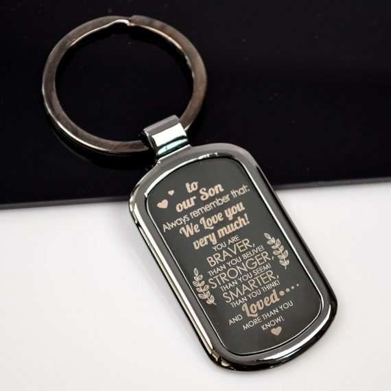 Metal Keychain To our son Always Remember
